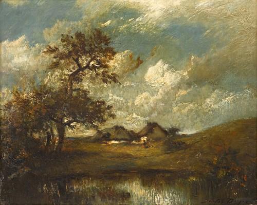 Lot 3 - JULES DUPRÉ  (FRENCH 1811-1889)