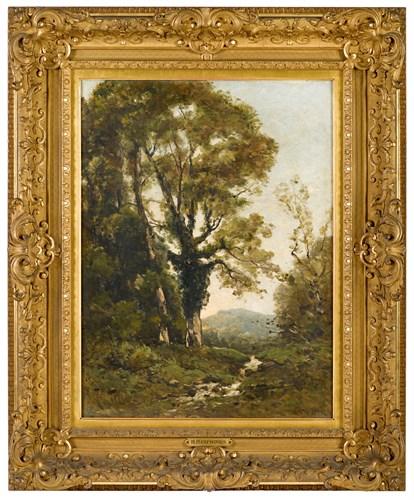 Lot 2 - HENRI JOSEPH HARPIGNIES  (FRENCH 1819-1916)