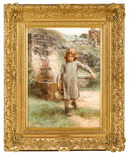 Lot 8 - LÉON AUGUSTIN L'HERMITTE  (FRENCH 1844-1925)