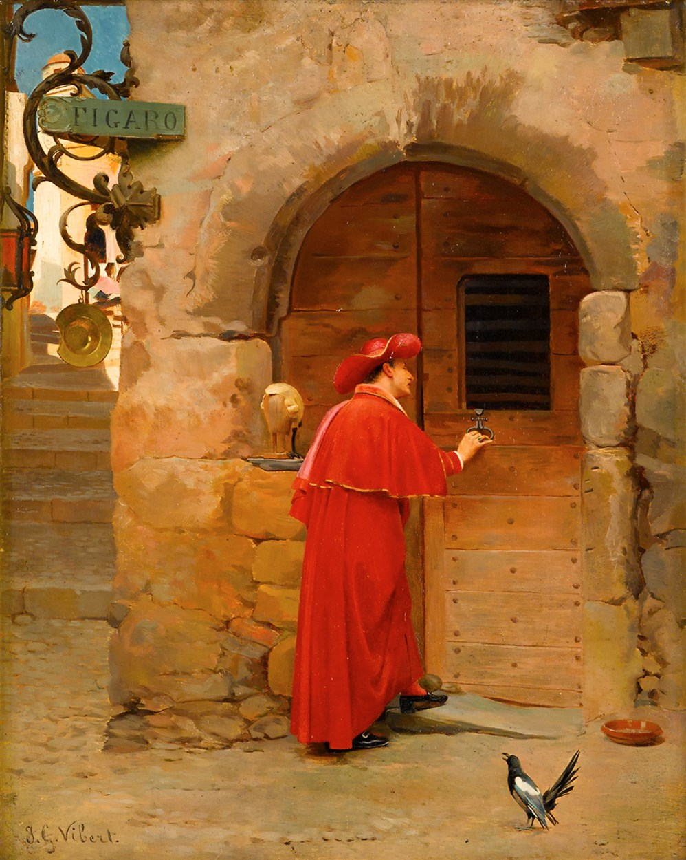 Lot 10 - JEHAN GEORGES VIBERT  (FRENCH 1840-1902)
