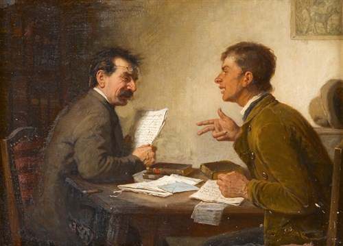 Lot 15 - REINHARD SEBASTIAN ZIMMERMAN  (GERMAN 1815-1893)