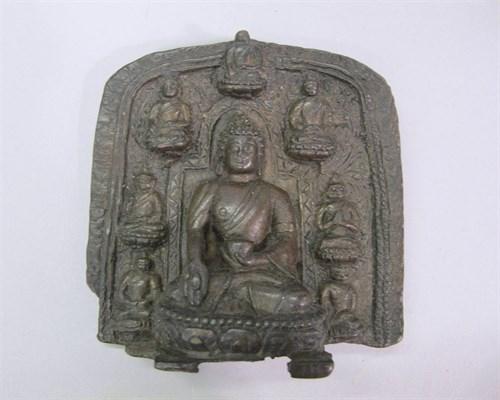 Lot 82 - Bronze stele of buddha
