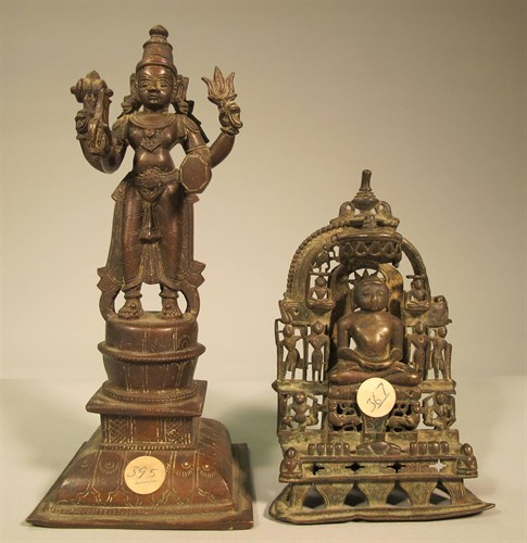 Lot 4 - Two Himalayan bronze figures