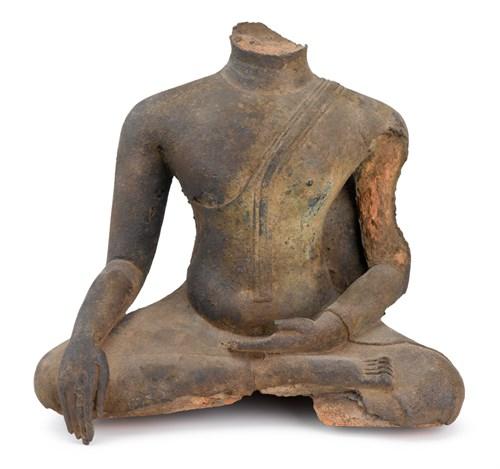 Lot 80 - Lopburi style bronze torso