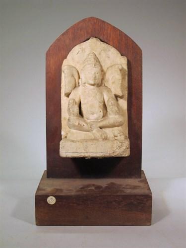Lot 79 - Indian stone stele of seated Brahma
