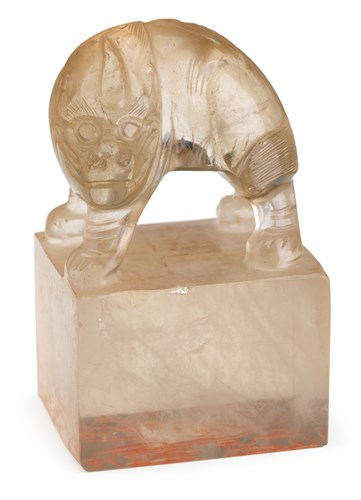 Lot 14 - Chinese rock crystal seal