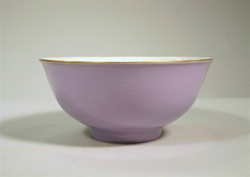Lot 50 - Chinese lavender purple glazed porcelain bowl