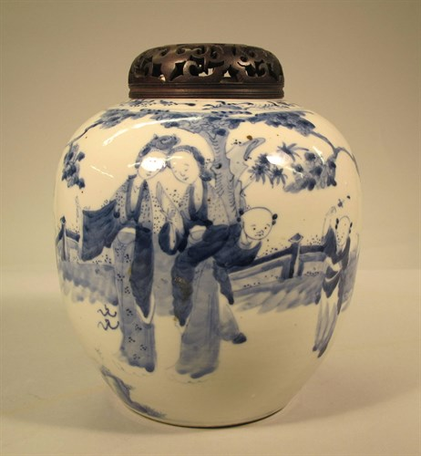Lot 39 - Chinese blue and white ginger jar