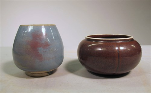 Lot 48 - Two chinese monochrome glazed vessels