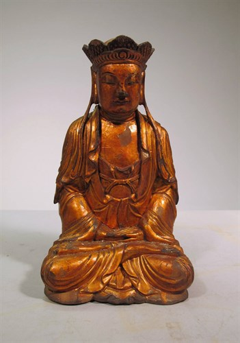 Lot 2 - Chinese Giltwood carving of Tang Seng