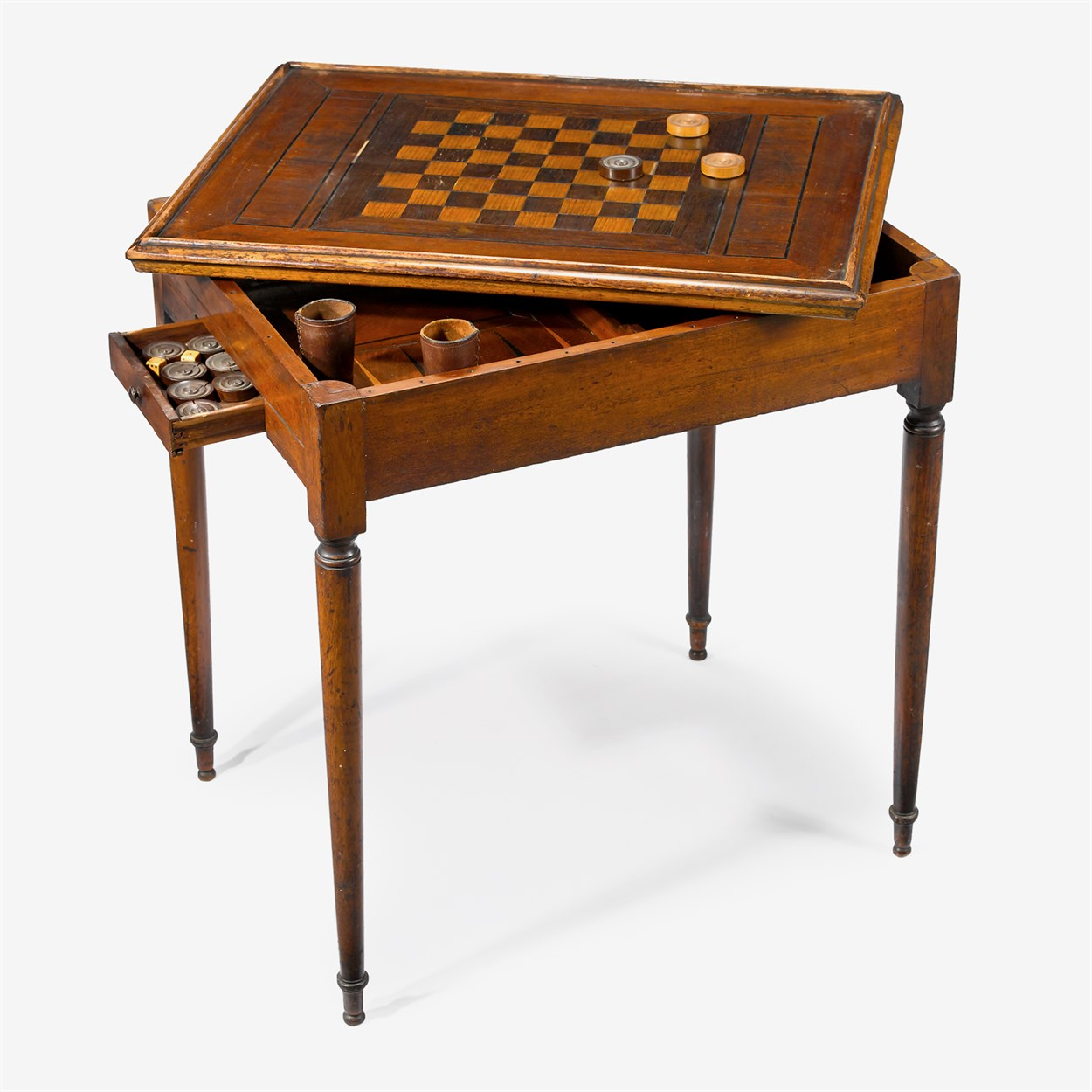 Lot 51 - Federal inlaid games table