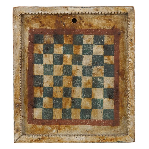 Lot 160 - Group of four painted wooden gameboards