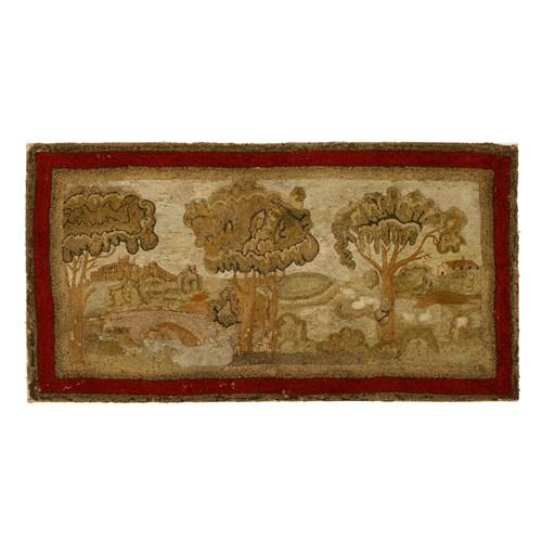 Lot 2 - Yarn-sewn table rug