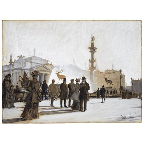 Lot 28 - CHILDE HASSAM  (AMERICAN 1859-1935)