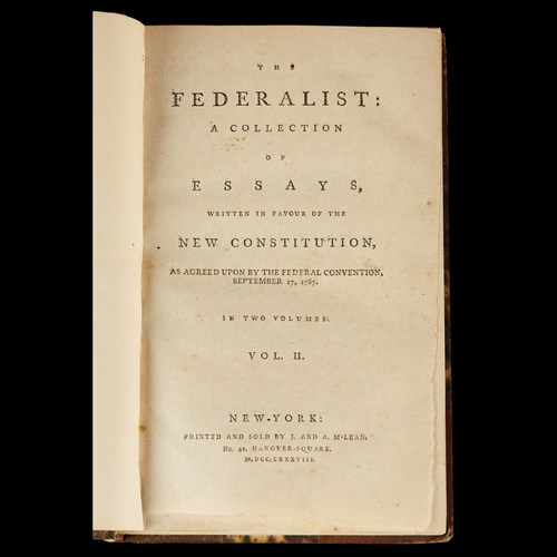 Lot 174 - (Scranton Estate : Americana). The Federalist:...