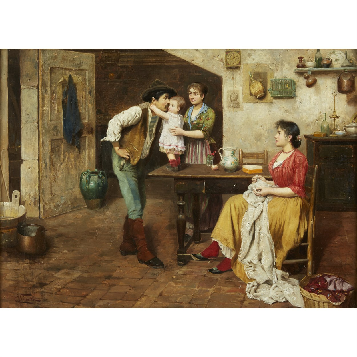 Lot 138 - CESARE VIANELLO  (ITALIAN 1862-C. 1920)