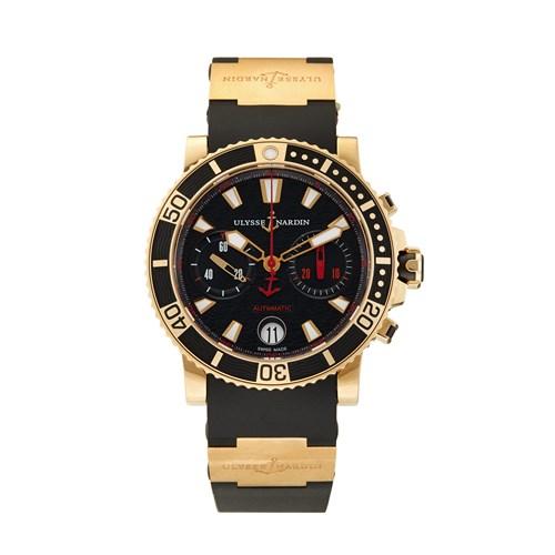 Lot 86 - Ulysse Nardin Marine Diver Chronograph Ref.8006-102-3A/926 c. 2010
