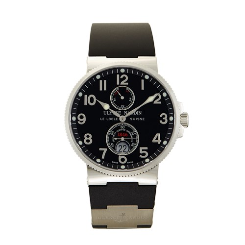 Lot 84 - Ulysse Nardin Maxi Marine Chronometer Ref.263-66-3/62 c. 2010