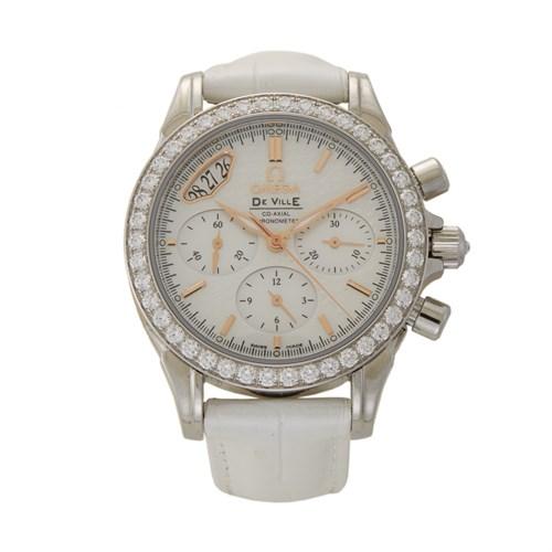 Lot 67 - Omega Ladies De Ville Chronograph Ref.422.18.35.50.05.001 c. 2010