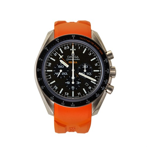 Lot 75 - Omega Speedmaster HB-SIA GMT Numbered Edition Ref.321.92.44.52.01.003 c. 2010