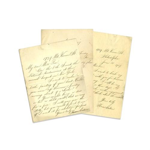 Lot 15 - Thomas Eakins (American, 1844-1916)