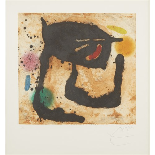 Lot 2 - JOAN MIRÓ  (SPANISH, 1893-1983)