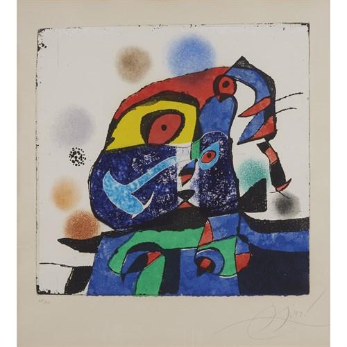 Lot 4 - JOAN MIRÓ  (SPANISH, 1893-1983)
