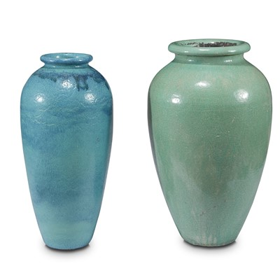 Lot 86 - Two large glazed ceramic floor vases