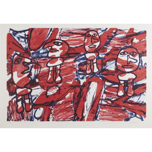 Lot 47 - JEAN DUBUFFET  (FRENCH, 1901-1985)