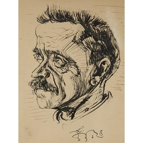 Lot 7 - LUDWIG MEIDNER  (GERMAN, 1884-1966)